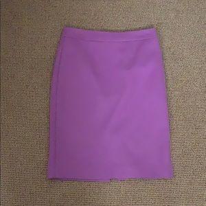 J crew hot pink wool pencil skirt